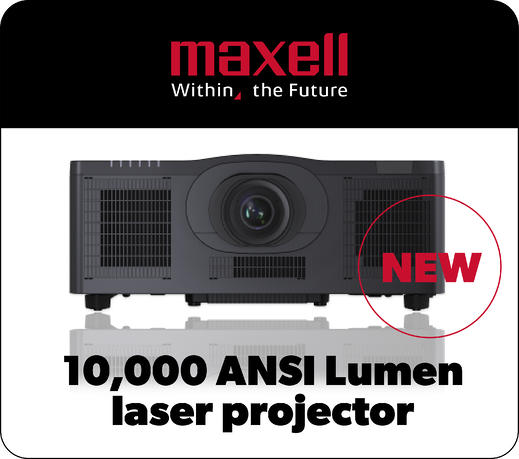 NEWMaxell 10000 ANSI WUXGA Laser Projector